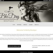 Hartley Web Design built the Blo Dry Boutique website