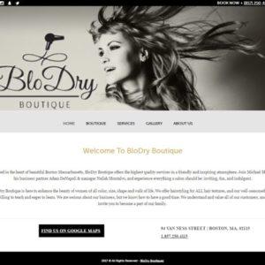 Hartley Web Design built the Blo Dry Boutique website